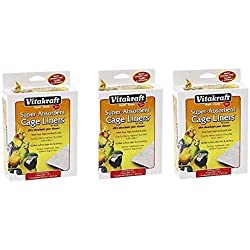 "VITAKRAFT 512071 7-Pack Super Absorbent Cage Liners for Birds, 20"" X 18"" ((3.Units))"