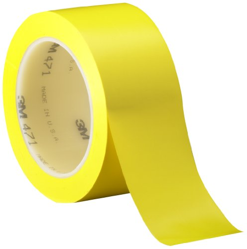 3M Vinyl Tape 471 Yellow, 2 in x 36 yd (Pack of 1)