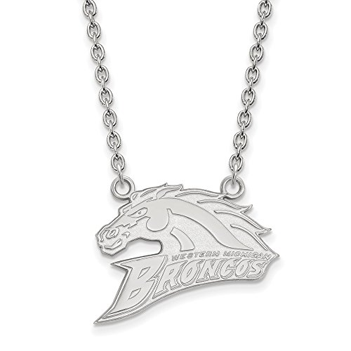 925 Sterling Silver Officially Licensed Western Michigan University College Large Pendant with Necklace by Unknown