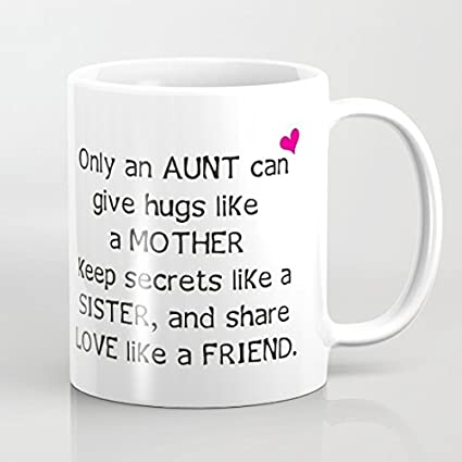 aunt quote mugs only an aunt can give hugs like mother christmas gifts best presents for - Christmas Gifts For Aunts