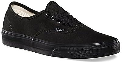 Vans Mens Authentic Core Classic Sneakers (44-45 M EU / 12.5 B(M) US Women / 11 D(M) US Men, Black/Black)