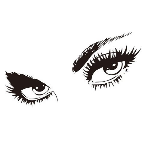 WOWSTickeRs Audrey Hepburns Eyes Silhouette Wall Sticker Decals Home