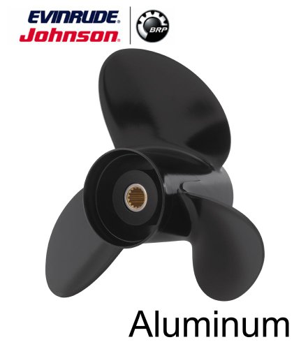 - Johnson Evinrude E-TEC 3 Blade Aluminum V-6 Prop Propeller 14.5