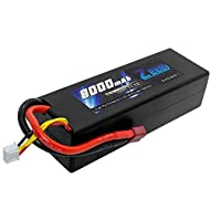 Zeee 8000mAh 11.1V 100C 3S RC Lipo Battery Pack with Deans T Plug for 1/8 1/10 RC Car Model Traxxas Slash Buggy Team Associated