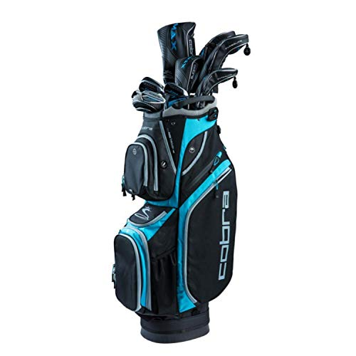 Cobra Golf 2019 F-Max Superlite Complete Set Black-Lexi Blue (Women's, Right Hand, Graphite, Ladies Flex, 15.0, 3W, 5W, 7W, 5H, 6-PW, SW, Putter, Bag)