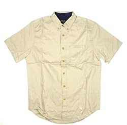 Eddie Bauer Classic-fit Twill Shirt (Large, YELLOW)