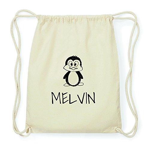 JOllipets MELVIN Hipster Turnbeutel Tasche Rucksack aus Baumwolle Design: Pinguin