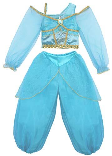 Little Pretends Girls Arabian Jasmine Princess Dress-up Costume (Large (Age 7-8)) -