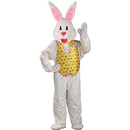 Rubies Adult Sized Deluxe Easter Bunny Rabbbit Holiday Costume | (Rabbit Head Costume)