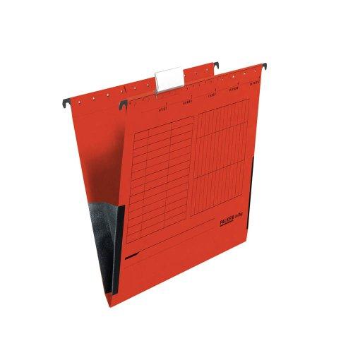 25 FALKEN Hängetaschen UNIREG / rot / DIN A4 / 230 g/m²