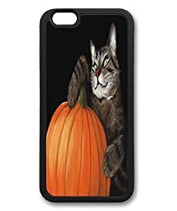 Beautiful Diy Black Thin & Lightweight Stylish Durable Soft case cover For iPhone 6 tfZ3jfgPM8Q Plus Cellphone Back case cover Skin For iPhone 6 Plus with Halloween Cat Poster