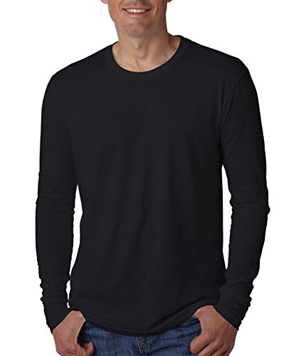 Next Level Apparel mens Next Level Premium Fitted Long-Sleeve Crew(N3601)-BLACK-L from Next Level Apparel