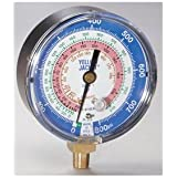 Gauge, 3 1/8In Dia, Low Side, Blue, 800 psi