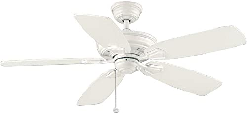 Hampton Bay Heirloom 52 in. Indoor/Outdoor White Matte Ceiling Fan