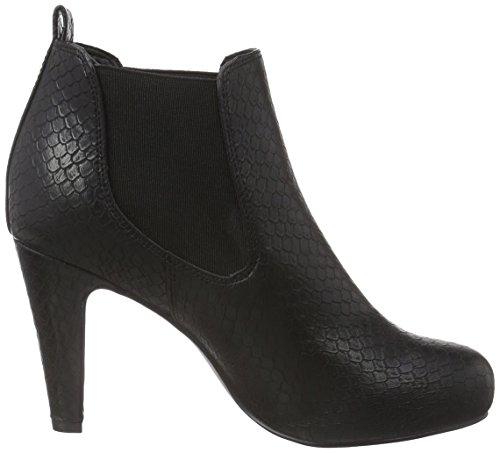 La Strada Schwarze Kroko-Look Stiefeletten, Women's Ankle Boots Black (1501 - Croco/Snake Black)