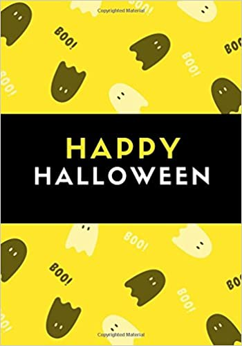 Happy Halloween 100 Pages Ruled Halloween Notebook Journal Diary Full Moon Yellow Daily Notebook Kid Creative 9781976275968 Amazon Com Books