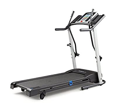 Electric Fitness SpaceSaver Treadmill Sports Exercise Cardio Training Home Gym LCD Display Tracks, Speed, Time, Distance, Calories Burned, Folds Vertically, for Storage, Maximize Workout Space