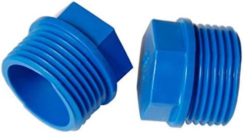 NO LOGO 6 Piezas//Lote 1//23//4 1 Pulgadas Rosca Macho Accesorios de riego tap/ón de Tubo de PVC Miniatura Extremo de la tuber/ía de conexi/ón de tuber/ía de Agua tap/ón roscado el Casquillo