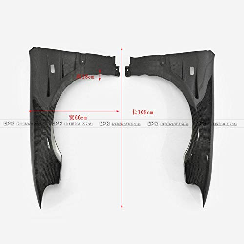 FidgetFidget New 2pcs Carbon Fiber Vented Front Fender for Honda EG Civic 92-95 Body kit