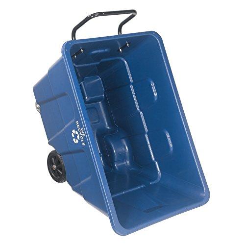 (Deluxe Plastic Recycling Tilt Truck 1/2 Cubic Yard Capacity 750 Lb. Cap, 46-1/2