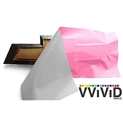 VViViD XPO Gloss Pink Chevy Bowtie Logo Wrap Kit (2 Rolls (11.8 Inch x 4 Inch)): Automotive