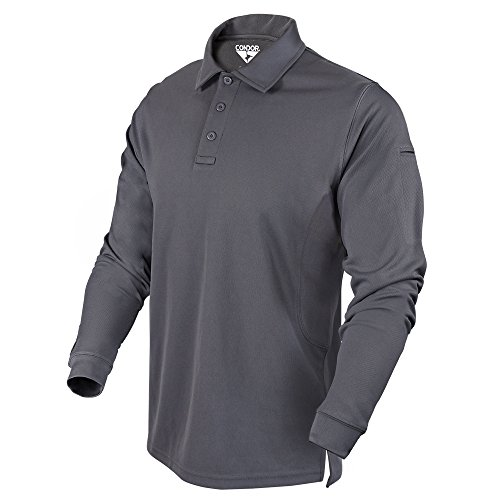 Condor Outdoor Performance Long Sleeve Tactical Polo Shirt (X-Large, Graphite) by Condor Outdoor
