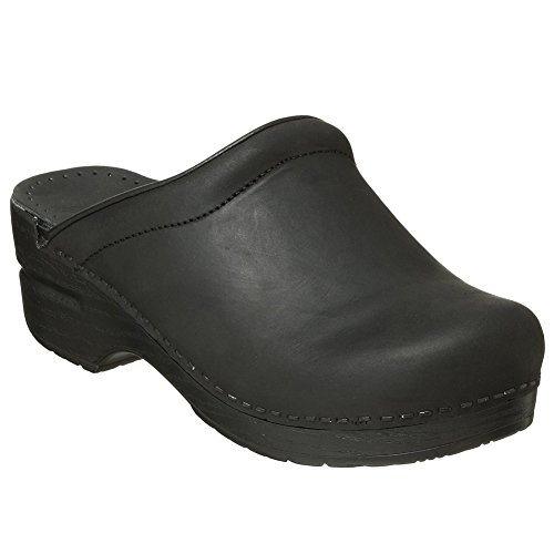 Sonja Black Oiled Leather - Dansko Sonja Women Mules and Clogs Shoes, Black Oiled, Size - 40
