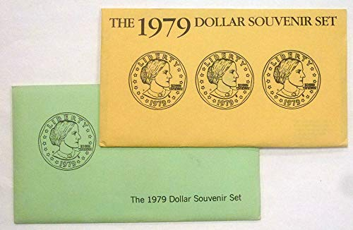1979 P D S Susan B Anthony Dollar Souvenir Set $1 US Mint Uncirculated