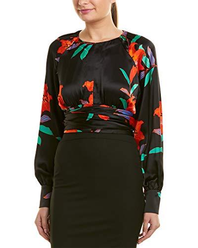 Diane von Furstenberg Womens Keyhole Silk Top, 0, ()