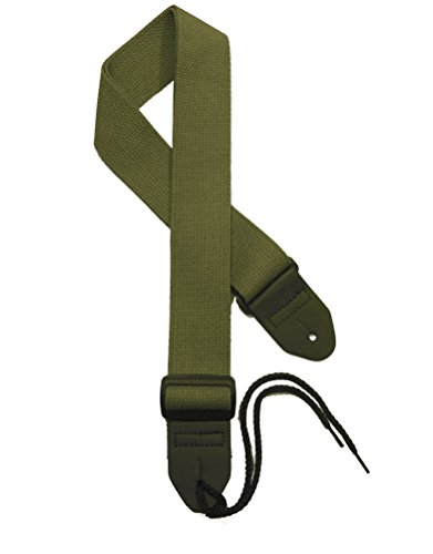 "2"" Olive Green Cotton Guitar strap available in 17 colors"