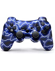Bowei PS3 Controller Wireless Double Shock Controller for Playstation 3 with Charge Cord