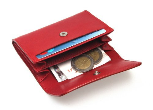 Light Lucrin Smooth Small Small Green Red Leather wallet Lucrin wallet Light Green w1qA0tZw