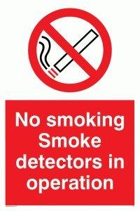 Viking signos ps7-a1p-1 mno fumar detectores de humo en funcionamiento signo, plástico, 1 mm, semirrígido 800 mm H x 600 mm W: Amazon.es: Amazon.es