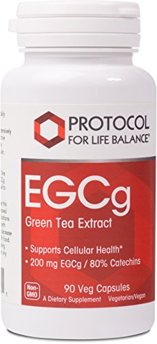 - Protocol For Life Balance - EGCg - Green Tea Extract Supports Cellular Health, Supports Brain Function, Natural Energy Boost, Metabolism Support, & Rich in Antioxidants - 90 Veg Capsules