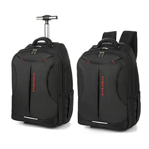 Nylon Waterproof Rolling Backpack, Freewheel Travel School Wheeled Backpack, Carry-on Luggage for High School, College Backpack, Rolling School Bag, Business Backpack, Travel Backpack, Carry-on Bag