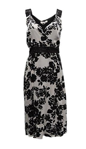 marina-rinaldi-womens-floral-silk-bead-accent-dress-sz-10-black-silver-grey-120065mm