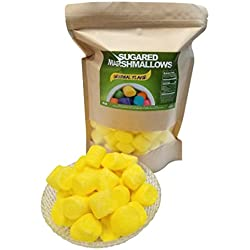 Sugared Marshmallows 2 Pounds (Yellow, 2 Pounds)