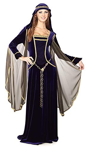 Esther Halloween Costume (Rubie's Costume Deluxe Renaissance Faire Queen Costume, Blue,)