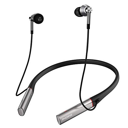 - 1MORE Triple Driver BT in-Ear Headphones Bluetooth Earphones with Hi-Res LDAC Wireless Sound Quality, Environmental Noise Isolation, Fast Charging, Volume Controls with Microphone - Silver