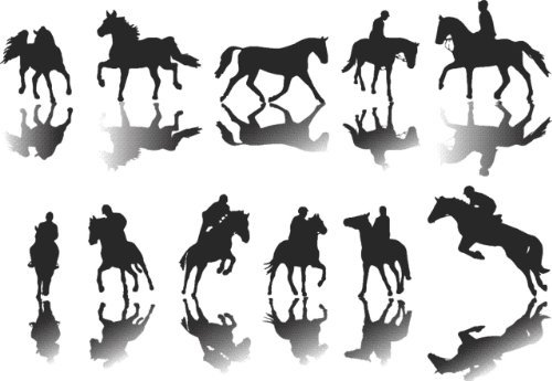 Decal – Vinyl Wall Sticker : Sheet Of Horse Animals Cowboy Rider Rodeo Western Living Room Bedroom Kitchen Home Decor Picture Art Image Peel & Stick Graphic Mural Design Decoration - Discounted Sale Item – Size : 30 Inches X 40 Inches - 22 Colors Available ()
