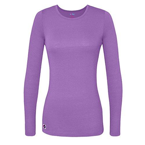 Sivvan Women's Comfort Long Sleeve T-Shirt / Underscrub Tee - S8500 - Lavender - 2X Discount Nursing Scrubs Shop
