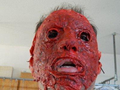 Halloween prop Hand Made Realistic Bloody Skinned Face -