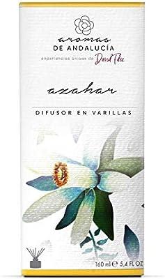 AROMAS DE ANDALUCIA, Ambientador, Mikado, Varillas, Lujuria Azahar, Cristal, 160ml 8.8 x 8.8 x 19.4 cm: Amazon.es: Hogar
