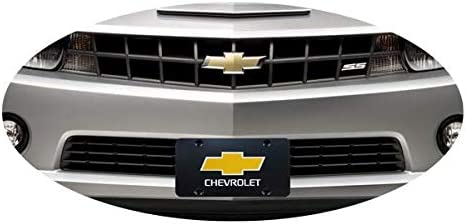 Black Chrome Front License Plate Covers with Logo Screw Nuts Set for All Models fit Chevrolet Nobrand Stainless Steel License Plate