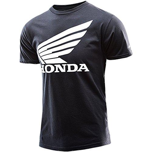 Apparel Casual Motocross (Troy Lee Designs Honda Wing T-Shirt-Black-L)