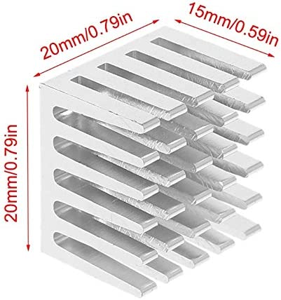 JadeShop 5Pcs 20x20x15mm Cooling Accessories DIY Heatsink CPU GPU IC Memory Chip Aluminum Heat Sink Extruded Cooler Radiator July