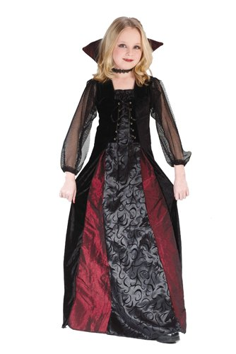 [Girls Gothic Maiden Vamp Costume Size Medium 8-10 by Fun World] (Vampire Dress For Kids)
