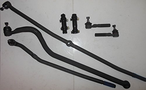 Fit Ram 1500 00-01 2500, 3500 00-02 Front End Kit Tie Rod Ends Track bar Adjusting Sleeves 4WD Vehicles Only
