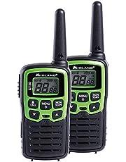 Midland C1177 XT30 - Radio Entry Level Ricetrasmittente Walkie Talkie - Colore Verde - Formato 16 Canali, Raggio 6 km, 38 Toni - Set di 2 Ricetrasmettitori