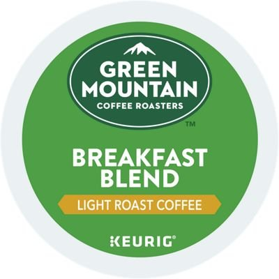 : Green Mountain Coffee Roasters Breakfast Blend, Single Serve Coffee K-Cup Pod, Light Roast, 12 Count, Pack of 6